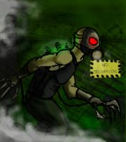 Industrial Zombie speed paint by Shadow-Lockheed