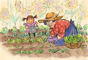 Gardening With Grandma by aberry89