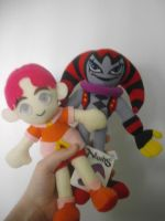 NiD Claris and Reala plushie by NiGHTSfanKevin
