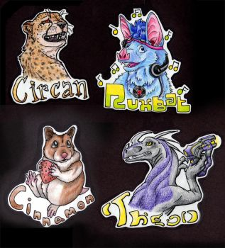 Badges set2 by Boarfeathers