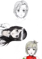 Let's Sketch: Manga Characters by Demoniac-Angel
