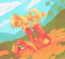 Even Earthponies can fly by Feyrah