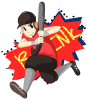 TF2- Red Scout (+Speedpaint) by FoxiestPancakes