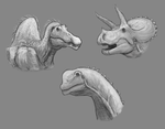 Dinosaur Doodles (Points commission examples?) by Sketchy-raptor