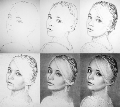 Annabella - Drawing Process by PMucks