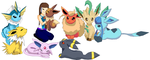 Wing and Most of the Eeveelutions by angelthewingedcat