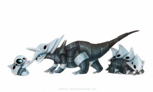 Aggron, Lairon and Aron by francis-john