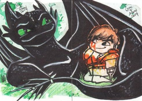 toothless and hiccup by saltygirl