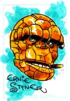 The Thing Sketch Card by EJJS
