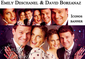 Emily Deschanel and David Boreanaz by Chibilina
