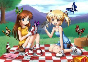 CM: 2 Girls Having A Picnic by Apollyon2011