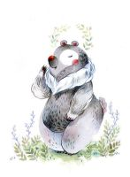 flower bear by sanoe