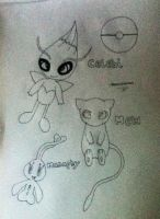 Celebi,Mew and Manaphy by TheNeonUmbreon