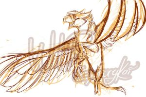 WIP Amber - Golden Feathers by GaruryKai by SEMC