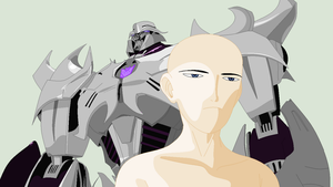 TFP-Annoyed Oc and Megatron Base by TFAfangirl14