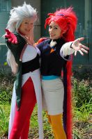 Ryoko and Washu: 2 by popecerebus