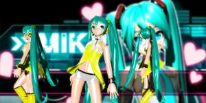 Yellow Miku Dt by GrayFullbuster21
