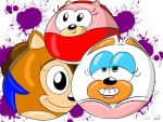 Toony sonic girl rubber balls by Joe-Awesome93