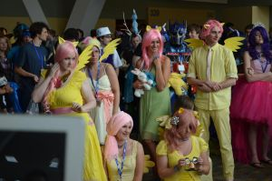 BronyCon 2013 - Fluttershy Group by AleriaVilrath