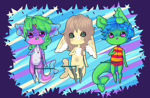 NotPie Pixel Gummi Shark Adopts Collab (CLOSED) by NotDamien