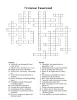 Precursor Crossword by DrinkTeaOrDie