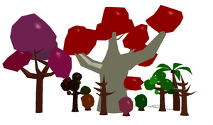 MMD Low Poly Tree Pack by AncientKyuubi