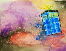 Tardis done by MissMachineArt