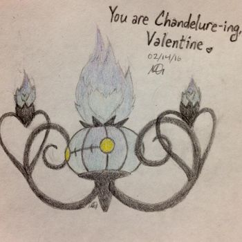 Chandelure Valentine by CaseMayday