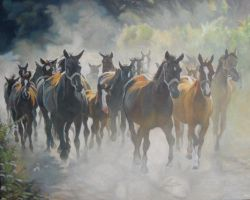 herd of horses by anna36
