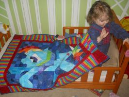 Rainbow Dash Quilt for my daughter by jysalia