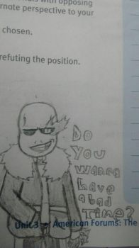School drawing sans by AnimePanda69