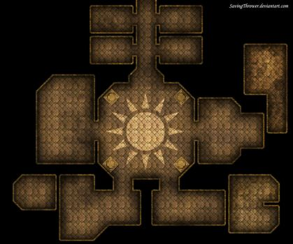 Clean Sun Temple map for DnD / Roll20 by SavingThrower