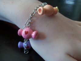 Sweet Rainbow Candy Charm Bracelet by Lilyanora