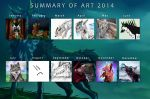 Summary of art 2014 by creepyzcat