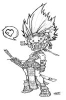 Chibi Sam Borg Pirate by CHUCK by nightgremlin