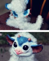 My Little Dragon: Blue Wyvern details by Santani