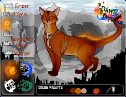 Ember- Fireclan. Dawn of Destinies by QuietLittleLeaf