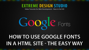 How to Use Google Fonts in a HTML Site by eds-danny
