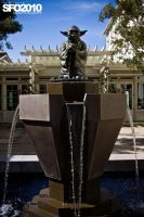 Yoda fountain at ILM by massivefocus