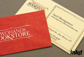 Local Bookstore BusinessCard by inkddesign