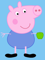 Peppa Pig: George eating a Granny Smith by dev-catscratch