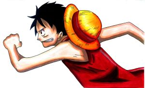 Running Luffy by Sunny-berry