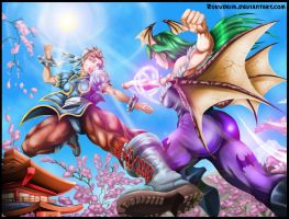 Chun Li Vs Morrigan By Rokudaime by rokudaim