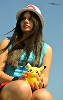 Cosplay Pokemon Trainer Blue 6 by Kirvaja