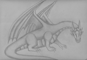 Daalia the Noble Dragon (sketch) by FireheartTheInferno