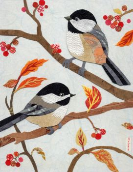 Autumn Chickadees by gnarlycat