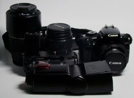 My Old Canon 400D Lenses by archaznable30