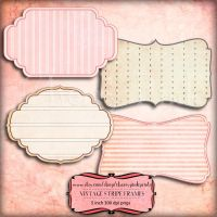 Digital scrapbook embelishment Vintage Stipe Frame by miabumbag
