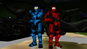 MMD Red vs. Blue Model Pack by tuestpwned