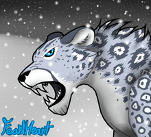 Snow Leopard FH by wingedwolf94